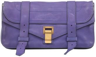 Proenza Schouler Purple Leather Clutch bags