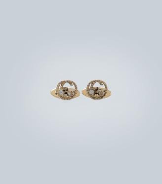 Gucci 18 carat gold GG cufflinks