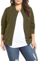 Plus Size Women's Levi's Ma-1 Satin Bomber Jacket