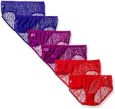 Fruit of the Loom Women's 6 Pack All Over Lace Hipster
