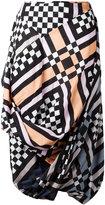 Vivienne Westwood multi-print draped skirt