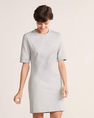 Love Moschino Glitter Logo T-Shirt Dress