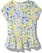 Pim + Larkin Short Sleeve Soft Peplum Top