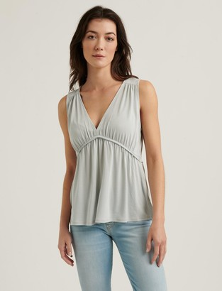 Lucky Brand Sleeveless Sandwash Ruffle Top