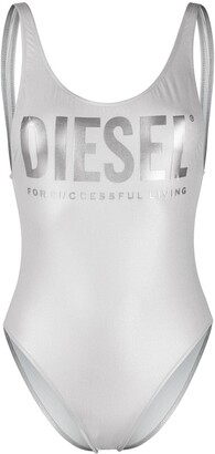 Diesel BFSW-LIA metallic logo swimsuit