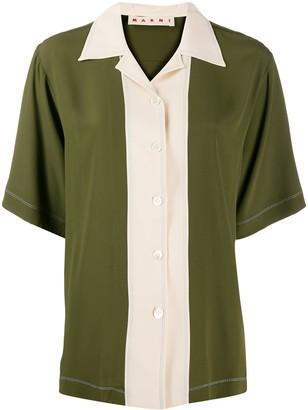 Marni Panelled Bowling Shirt