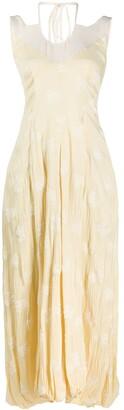 Jil Sander Embroidered Halterneck Dress