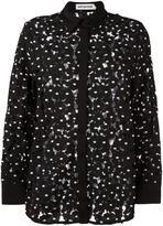 Self-Portrait 'Polka Daisy' shirt - women - Cotton/Polyester/Spandex/Elastane - 28B