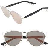 Christian Dior Women's Technologic 57Mm Brow Bar Sunglasses - Blue Black