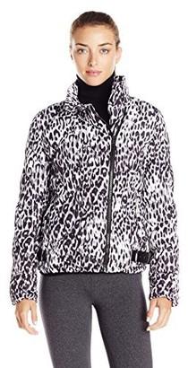 Andrew Marc Women's Printed Puffer Asym Moto Jacket
