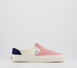 Vans Classic Slip Ons Pink Icing Whisper White Blueprint Cord Exclusive