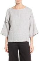 Eileen Fisher Women's Double Weave Organic Linen & Cotton Top