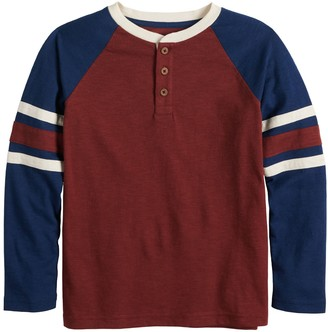 Sonoma Goods For Life Boys 4-12 Striped Sleeve Henley Top