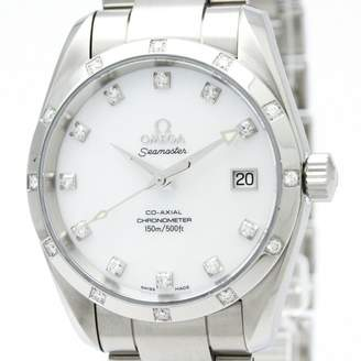 Omega Seamaster Aquaterra White Steel Watches