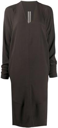 Rick Owens Side Slit Detail Loose Fit Dress