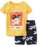 Old Navy 2-Piece Airplane-Graphic Sleep Set for Toddler & Baby