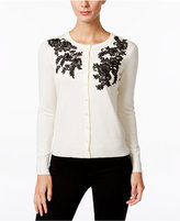 Charter Club Lace Appliqué Cardigan, Only at Macy's