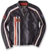 Retro Stripe Leather Jacket
