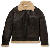 Balenciaga Oversized Shearling Aviator Jacket