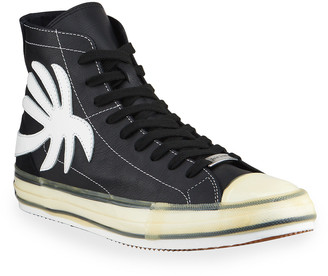 Palm Angels Men's Palm Tree Vulcanized High-Top Sneakers