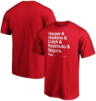 Majestic Bryce Harper Philadelphia Phillies Hometown Ampersand T-Shirt - Red