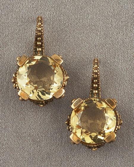 Stephen Dweck Yellow Quartz Earrings