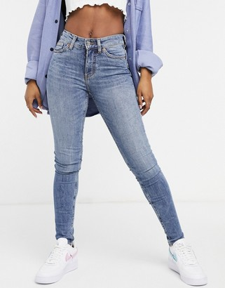Monki skinny jeans in blue