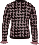 River Island Girls Metalic Houndstooth Knitted Jumper-Pink