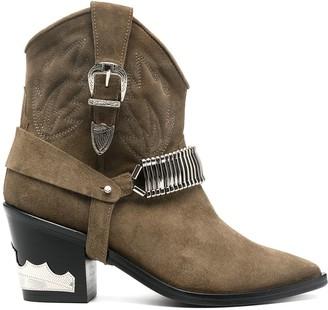 Toga Pulla Suede Cowboy Boots