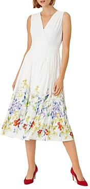 Hobbs London Floral Print Fit & Flare Dress