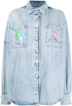 Natasha Zinko Long-Line Denim Shirt