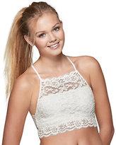 Juniors' SO® High Neck Lace Bralette