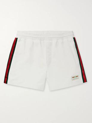 Gucci Mid-Length Webbing-Trimmed Swim Shorts