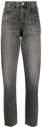 Saint Laurent high-rise straight leg jeans