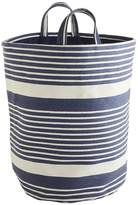 Pier 1 Imports Blue & White Striped Laundry Tote