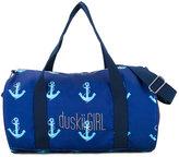 Duskii Girl anchor print duffle bag