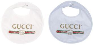 Gucci Kids logo bib set
