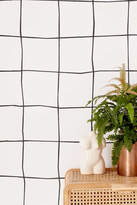 Urban Outfitters Wonky Grid Removable Wallpaper