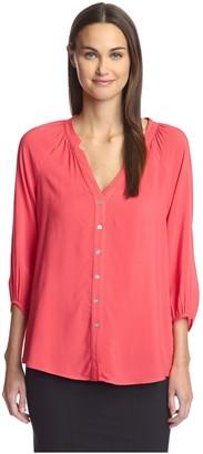 The Hutch Company Hutch Women's Button Front Blouse