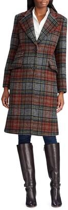 Lauren Ralph Lauren Plaid Reefer Coat