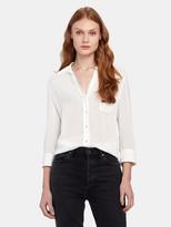 L'Agence Ryan 3/4 Sleeve Silk Blouse