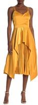 One One Six Kunal Hi/Lo Pleated Contrast Dress