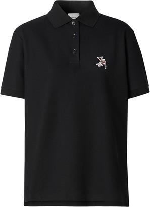 Burberry Deer Embroidery Polo Shirt