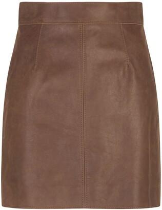 Dolce & Gabbana High-Waisted Leather Mini-Skirt