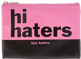 Charlotte Russe Haters Printed Zip Pouch