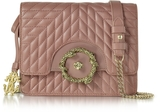 Roberto Cavalli Small Cappuccino Nappa Star Quilted Leather Shoulder Bag
