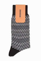 Missoni Textured Zigzag-Knit Striped Socks