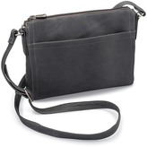 Le Donne Gray Finte Leather Crossbody Bag