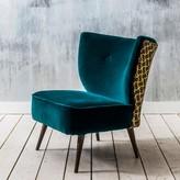 Graham and Green Alpana Teal Velvet Chair