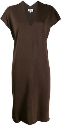 MM6 MAISON MARGIELA V-neck relaxed dress